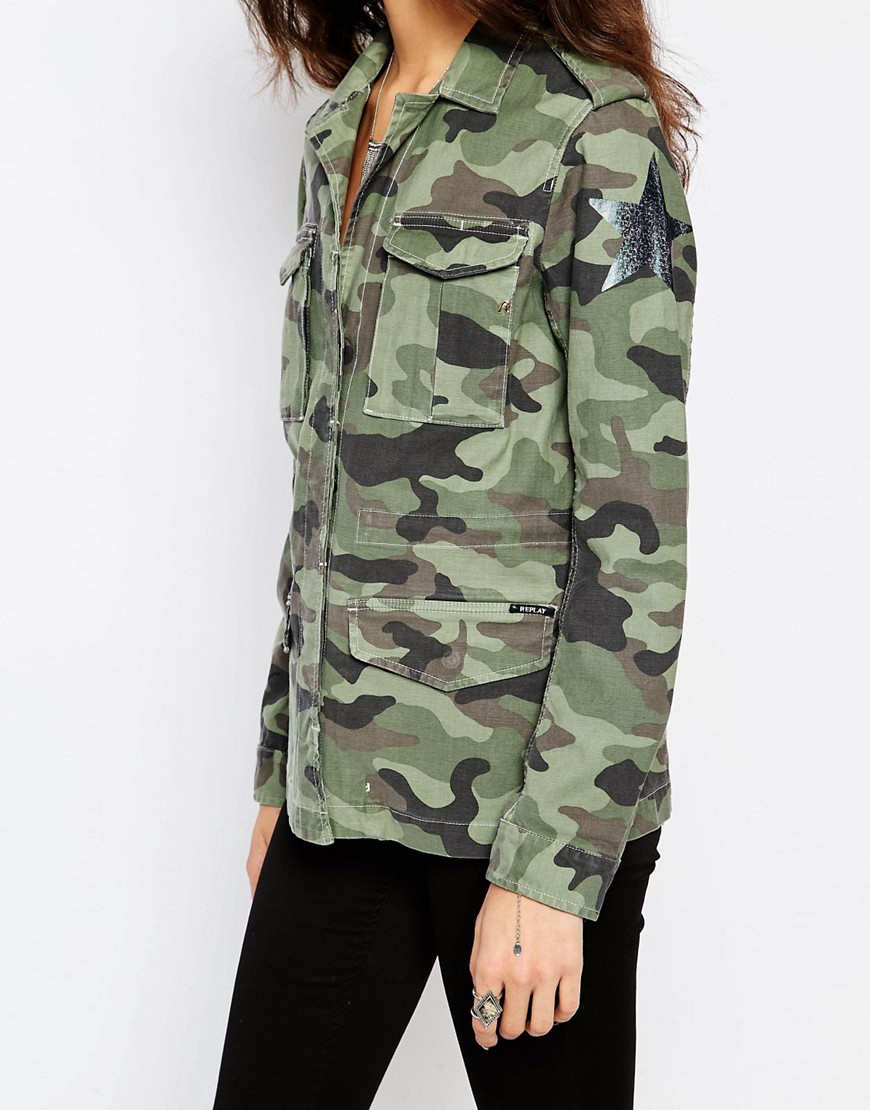 Damenbekleidung Jacken,HISTORY REPEATS Damen Giacca Donna Geschichte Jacke Camo Dame Kleidung 1. Your order is usually shipped out within hours after your payment is received.